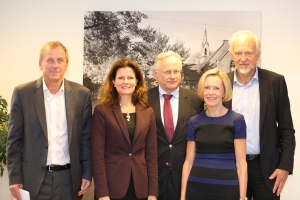 f.v Morten Reymert, Cathrine M. Lofthus, Svein Gjedrem, Marit Bjartveit, og Bjørn Erikstein