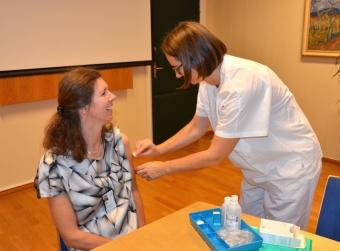 Hilde-Myhren-vaksineres